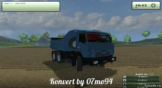 Синий камаз для Farming Simulator 2013