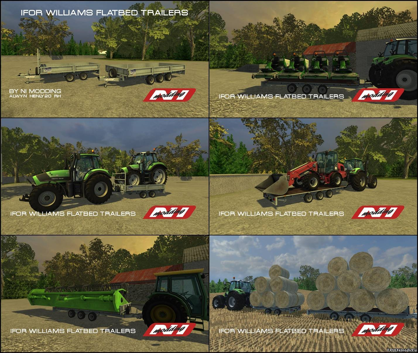 Ifor Williams Flat Bed Trailers для Farming Simulator 2013