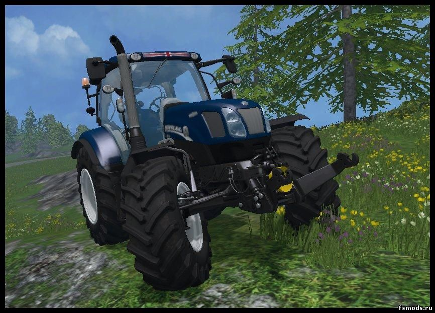 Скачать New Holland T6.160 BLUE POWER для Farming Simulator 2015