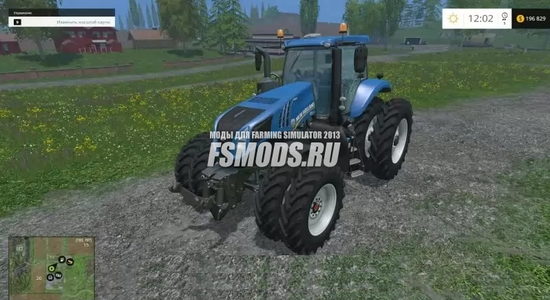 Скачать New Holland T8 320 DRC v1.0 для Farming Simulator 2015