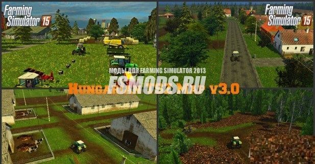 Скачать Hungarian TSZ Map v3.0 для Farming Simulator 2015