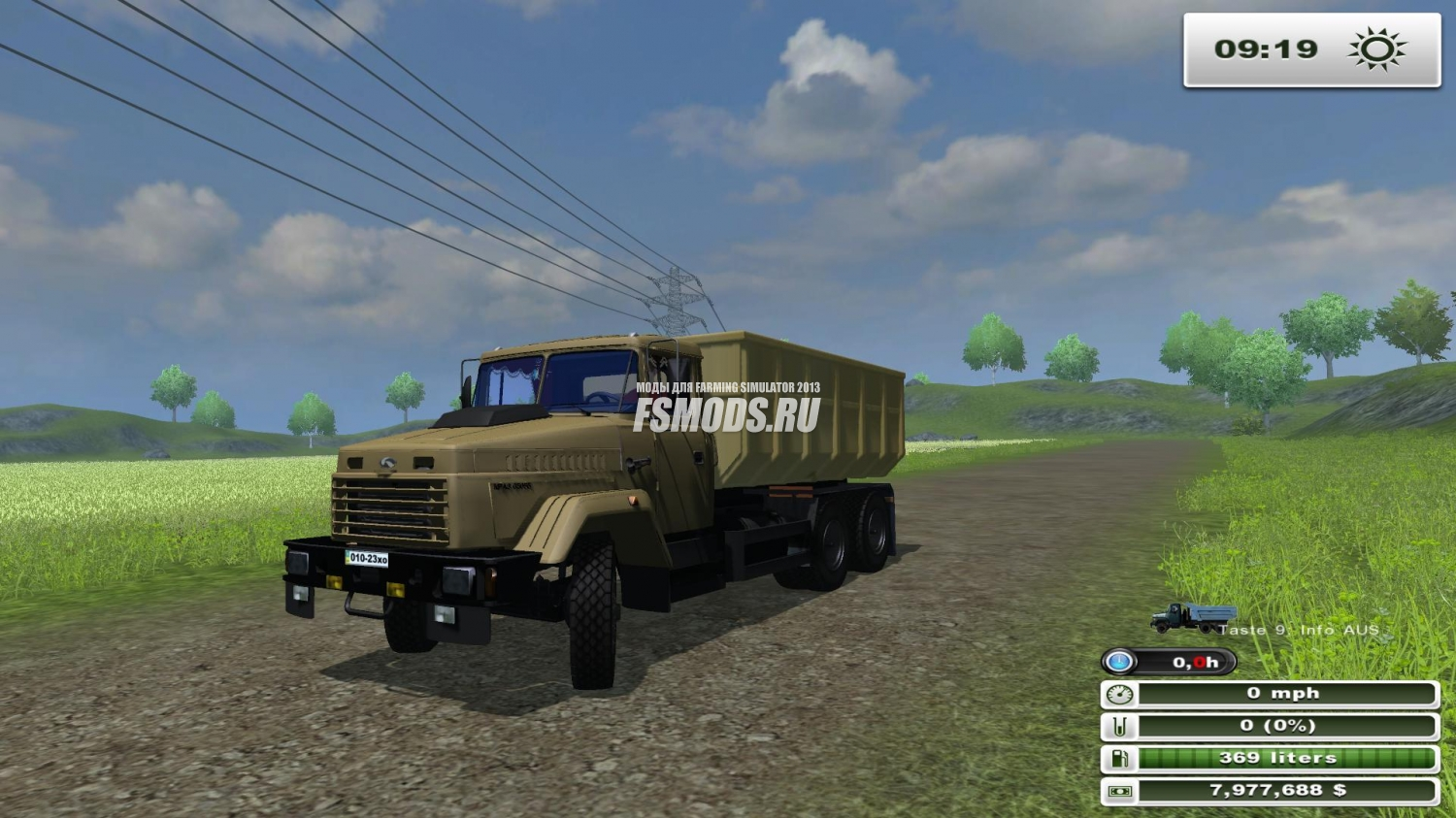 КрАЗ 65055 V3.0 для Farming Simulator 2013