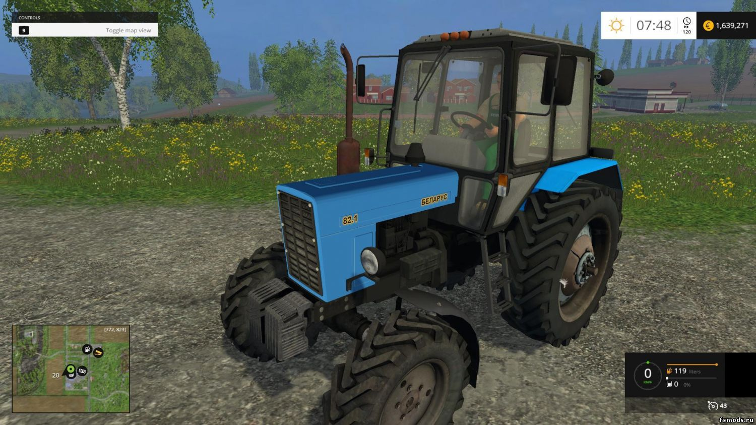 Скачать МТЗ 82.1 V3.0 для Farming Simulator 2015