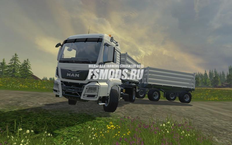 Скачать MAN TGS 18.440 + прицеп V2.0 для Farming Simulator 2015
