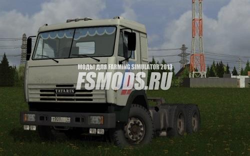 Скачать КАМАЗ 6460 + СЗАП 9327 для Farming Simulator 2013