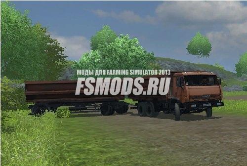 Скачать КАМАЗ 45280 и прицеп для Farming Simulator 2013