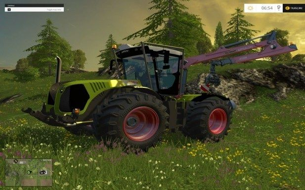 Claas Xerion 5000 Forest v1.0 для Farming Simulator 2015