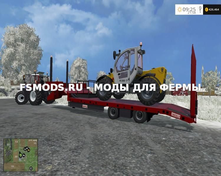Скачать BLACK MULLER LOW LOADER V1.0 для Farming Simulator 2015
