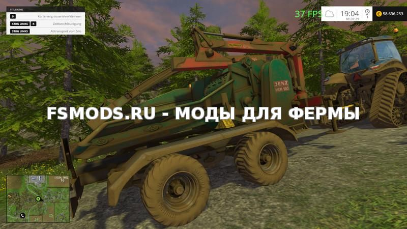 Jenz Holzhacker v3.0 для Farming Simulator 2015