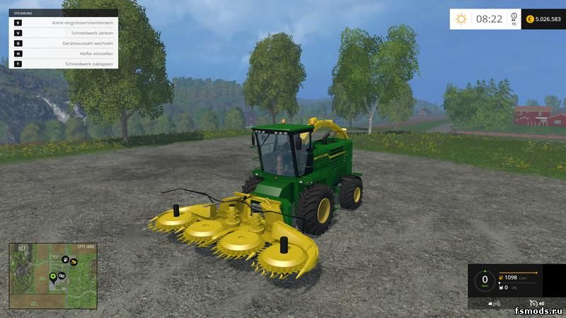 Скачать JOHN DEERE 7180 KEMPER 460PLUS V1.0 для Farming Simulator 2015