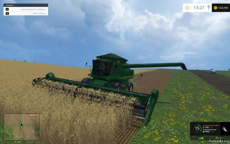 Скачать JOHN DEERE 9770 STS V1.0 для Farming Simulator 2015