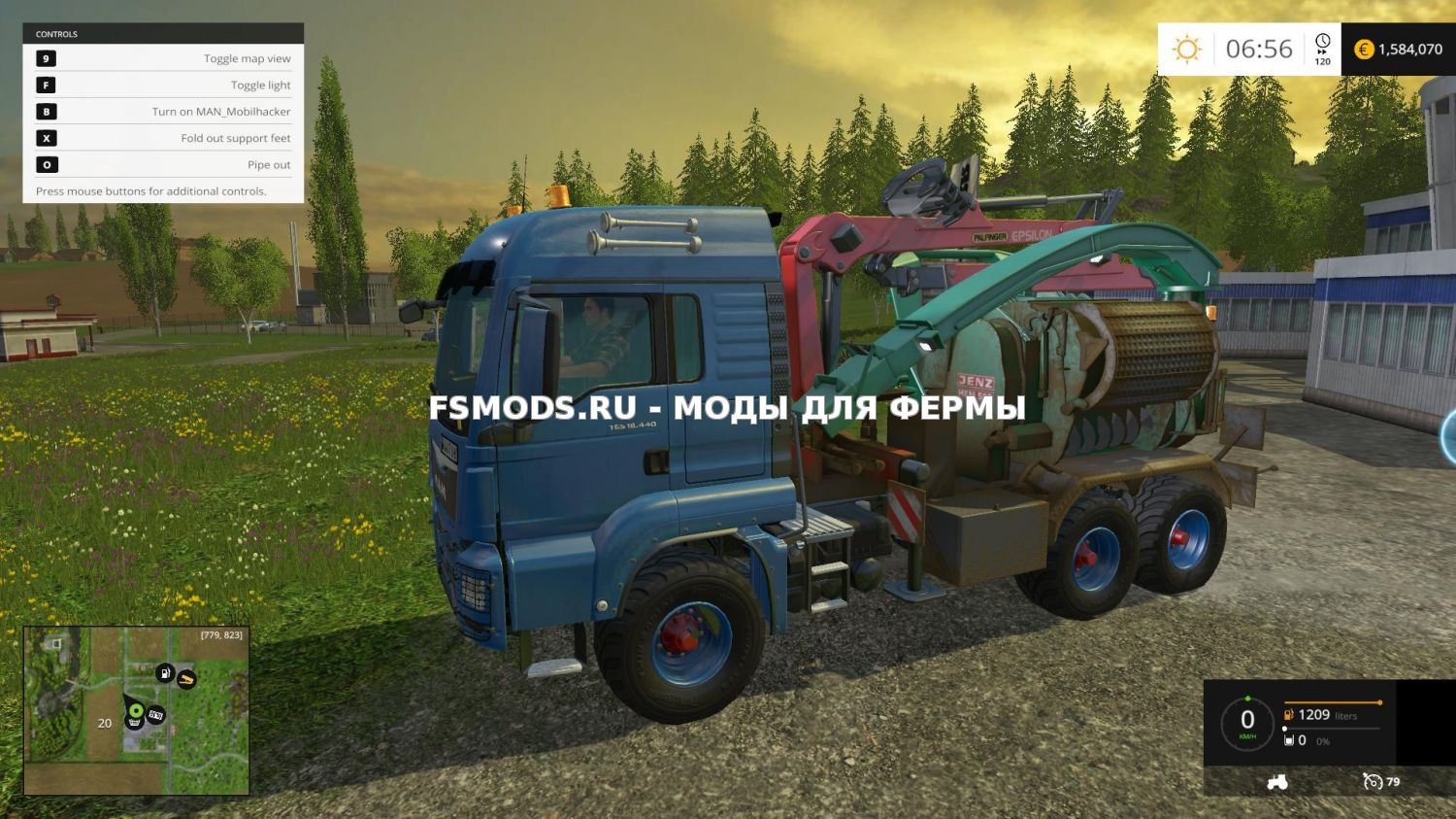 MAN TGS WOOD CHIPPER для Farming Simulator 2015