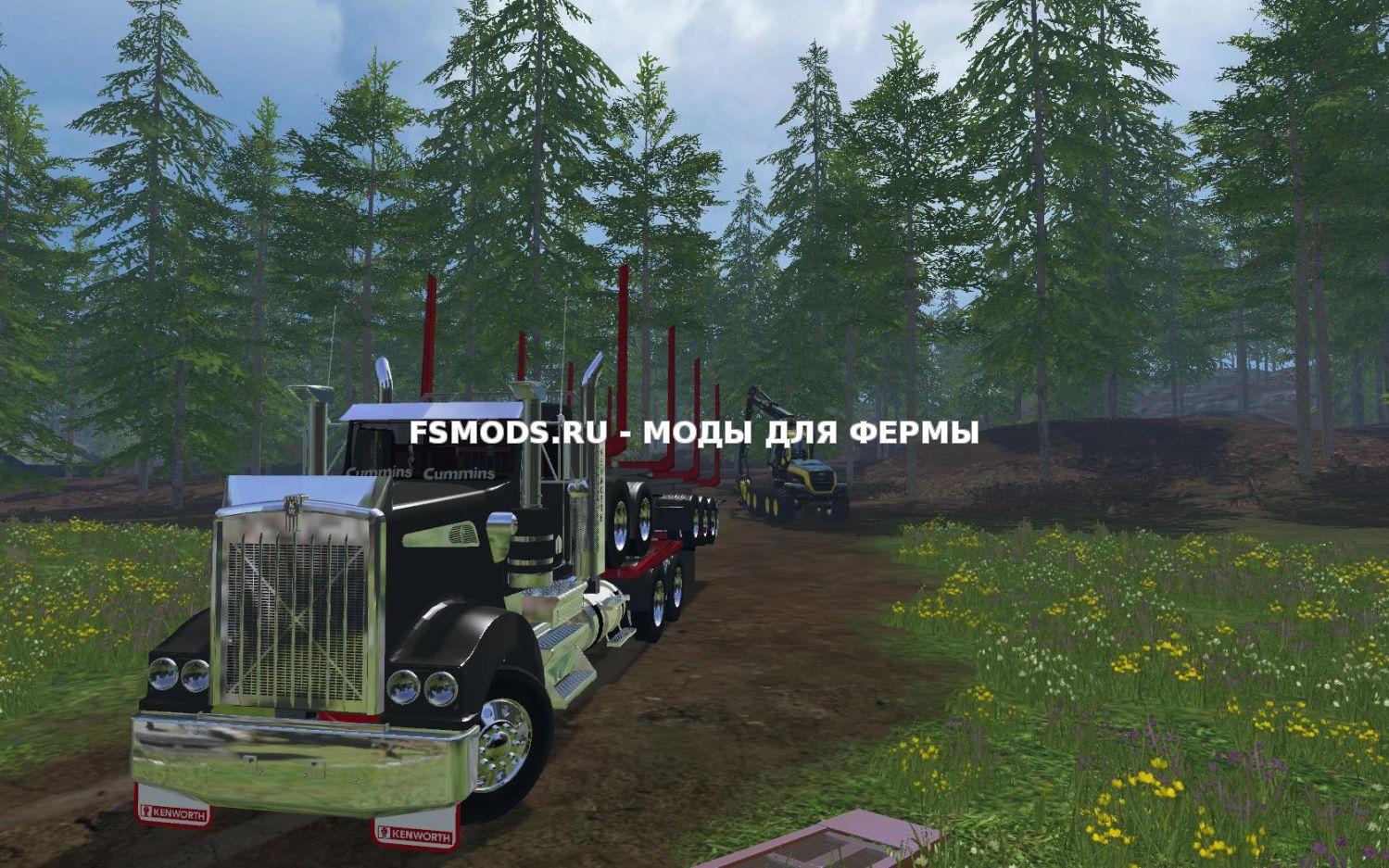 Скачать Kenworth T908 Logger v1.0 для Farming Simulator 2015