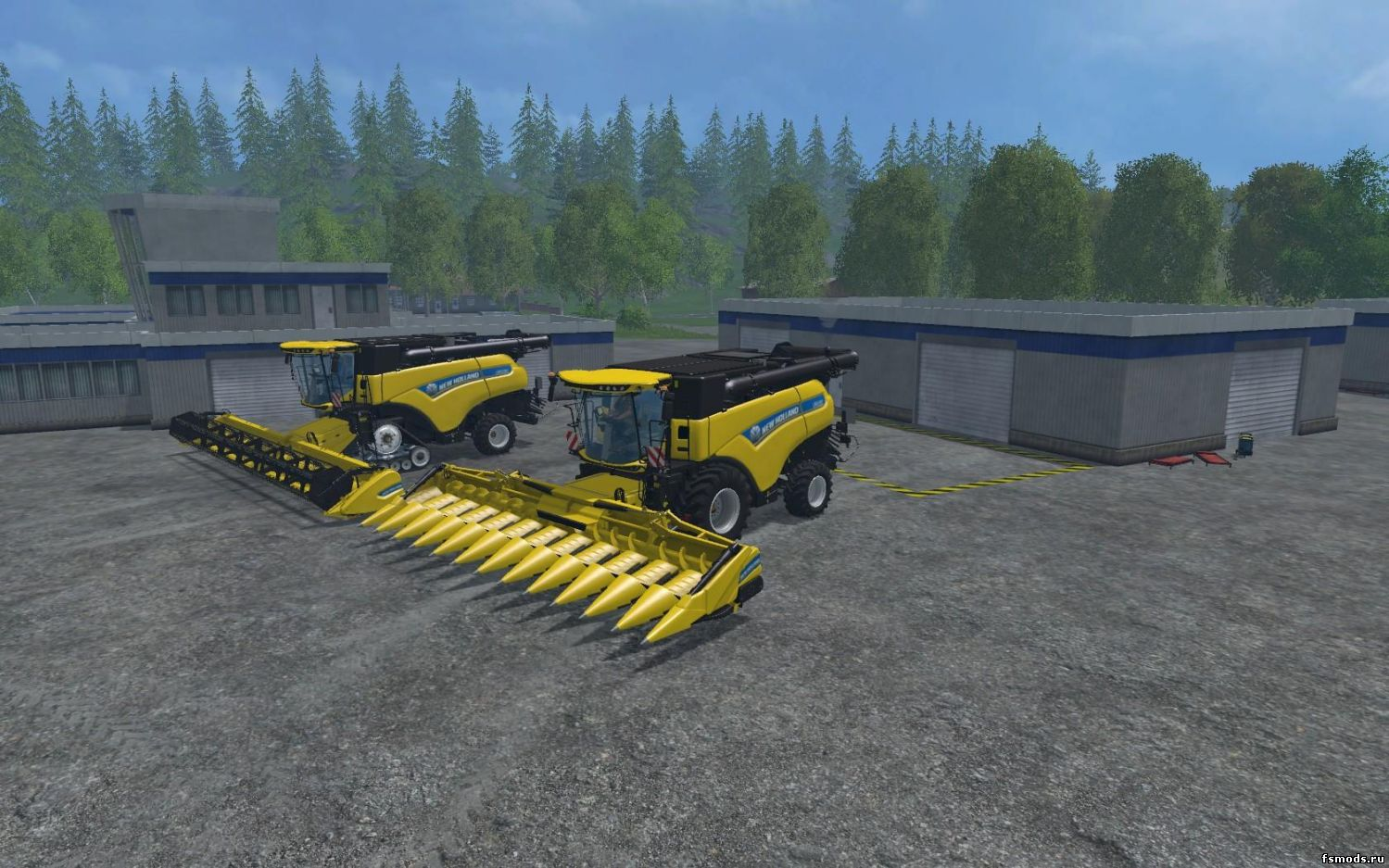 Скачать New Holland CR 1090 v1.0 для Farming Simulator 2015