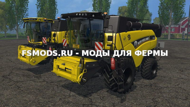 Скачать New Holland CR9.90 Yellow v1.1 для Farming Simulator 2015