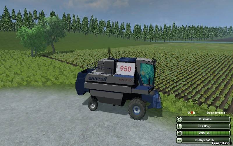 ЕНИСЕЙ 950 «РУСЛАН» для Farming Simulator 2013