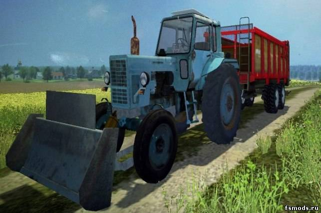 МТЗ 80 и отвал для Farming Simulator 2013