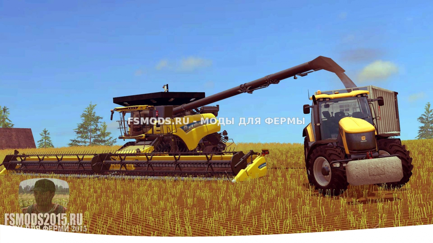 Скачать NEW HOLLAND CR10.90 CRAWLER для Farming Simulator 2015