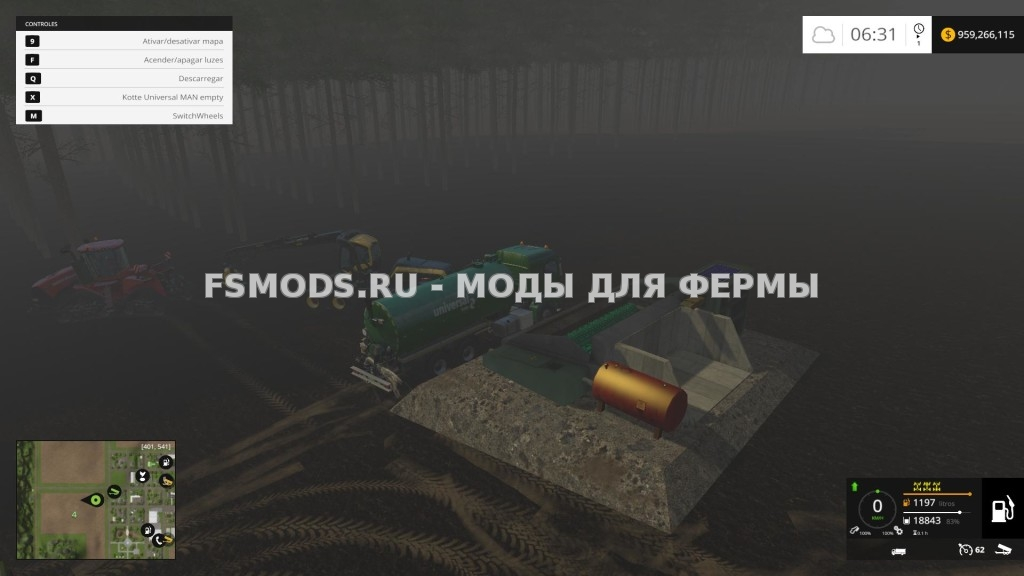 СТАЦИОНАРНЫЕ ДИЗЕЛЬ HACKER + БАК MOD для Farming Simulator 2015