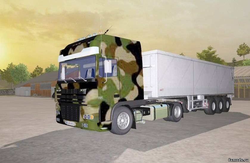 Военный DAF XF для Farming Simulator 2013