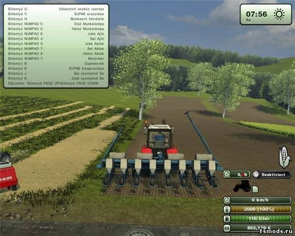 Сеялка СУПН-8 для Farming Simulator 2013
