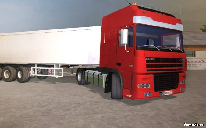 Красный DAF XF для Farming Simulator 2013
