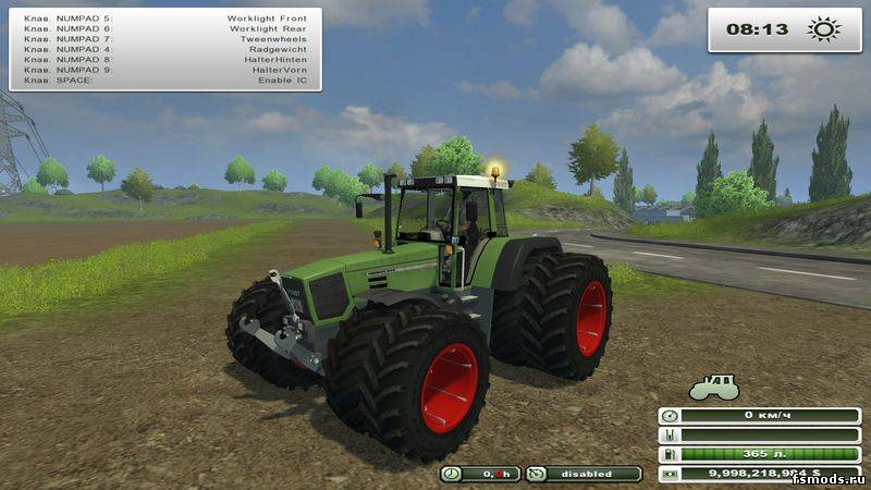 Fendt Favorit 824 для Farming Simulator 2013