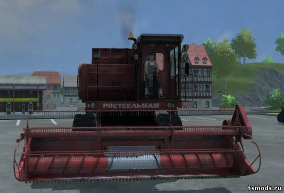 Скачать Дон-1500А РОСТСЕЛЬМАШ для Farming Simulator 2013