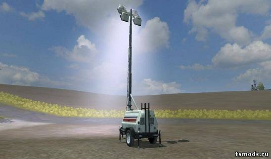 Скачать Placeable Floodlight Generator для Farming Simulator 2013