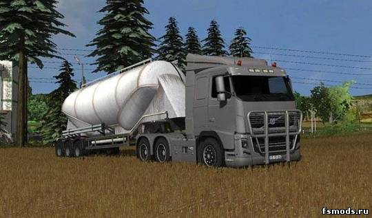 Скачать Volvo FH 16 v1.0 Silver для Farming Simulator 2013