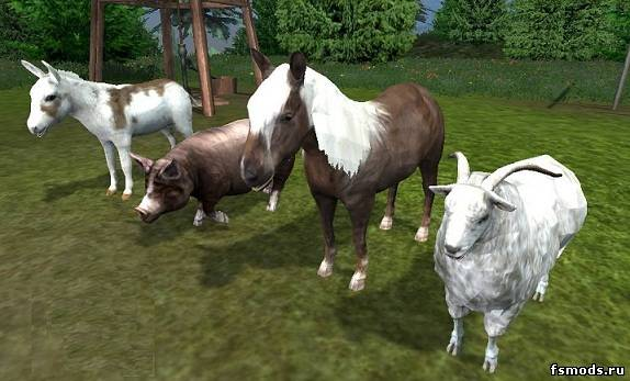 Скачать Placeable Animals v1.1 для Farming Simulator 2013