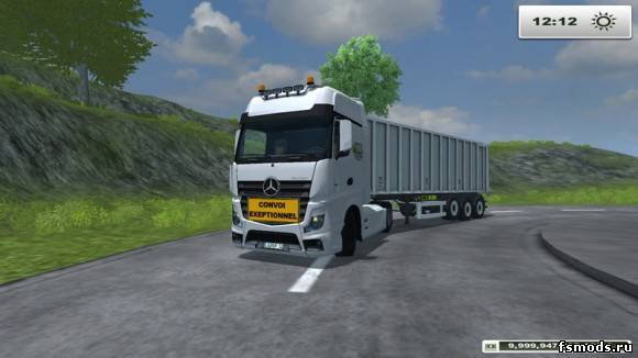 Mercedes Actros Rannard TP v 2.1 для Farming Simulator 2013